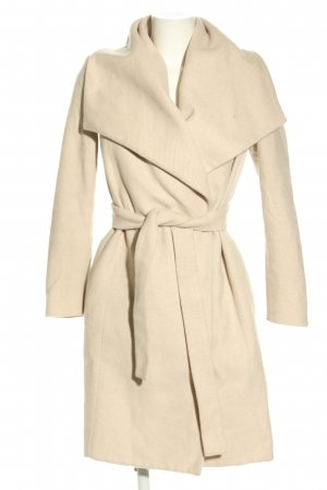 Mango Suit Wollen jas room zakelijke stijl