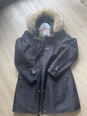 Mango Manteau court noir-crème