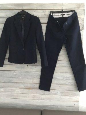 Mango Suit Trouser Suit dark blue