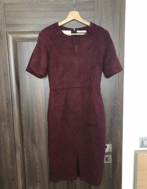 Mango Suit Pencil Dress bordeaux-carmine
