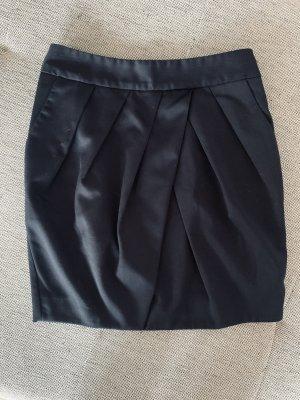 Mango Suit Spódnica midi ciemnoniebieski