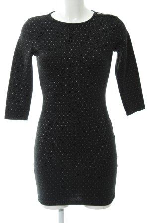 Mango Sweatkleid schwarz-weiß Punktemuster Casual-Look