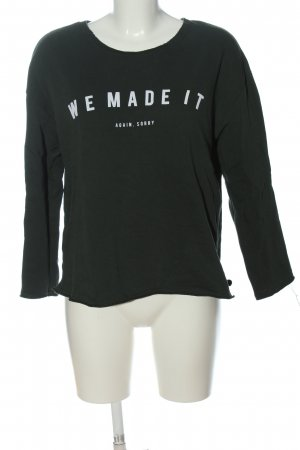 Mango Sweatshirt schwarz-weiß Schriftzug gedruckt Casual-Look