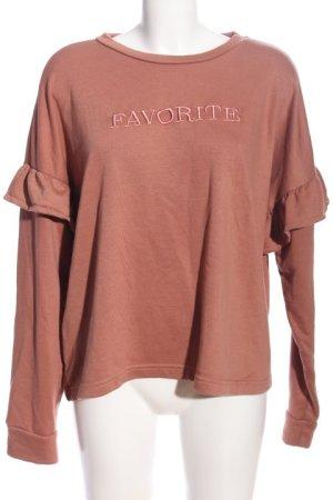 Mango Sweat Shirt brown-pink casual look