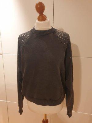 Mango Sweatshirt grau silber Gr. M