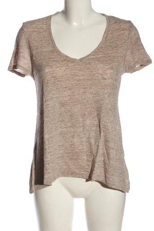 Mango T-Shirt pink-weiß Casual-Look