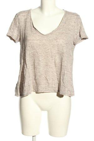 Mango T-Shirt wollweiß-braun meliert Casual-Look