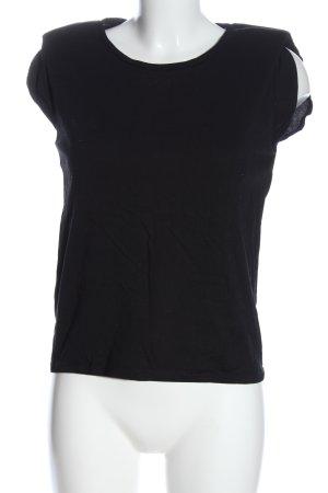 Mango T-Shirt schwarz Casual-Look