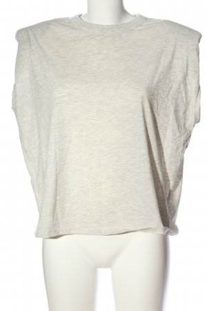 Mango T-shirt wolwit gestippeld casual uitstraling