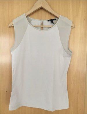 Mango T-Shirt, Farbe ecru, Größe M, Ärmeleinsätze durchsichtig