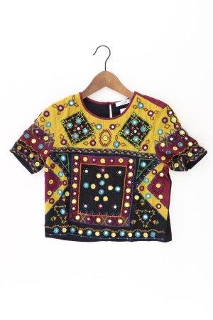 Mango T-Shirt Größe S Kurzarm mehrfarbig aus Baumwolle