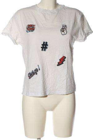 Mango T-Shirt hellgrau Casual-Look