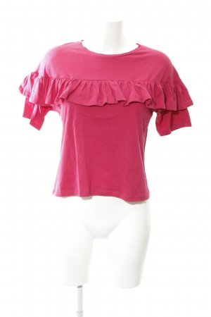 Mango T-Shirt magenta Casual-Look