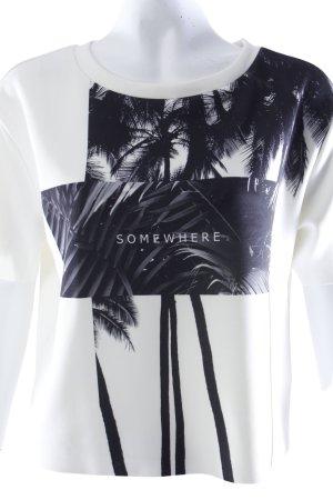 Mango T-Shirt Palmenmotiv