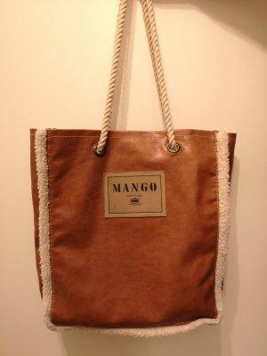 Mango Burlap Bag brown