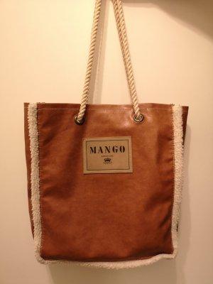 Mango Burlap Bag brown