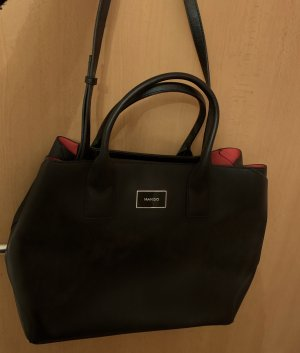 Mango Shopper noir-rouge
