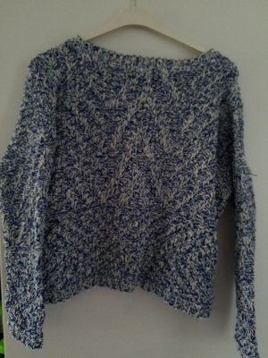Mango: toller blau-weißer Pullover