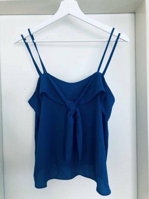 Mango Basics Camisa de mujer azul