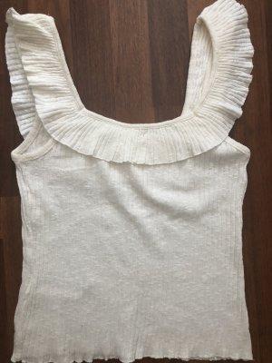 Mango Camiseta sin mangas blanco puro