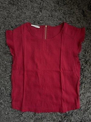 Mango Camiseta rojo-rojo oscuro
