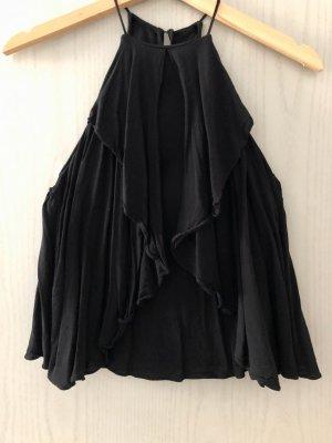 Mango Suit Halter Top black