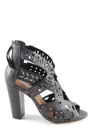 Mango Touch High Heel Sandaletten schwarz extravaganter Stil