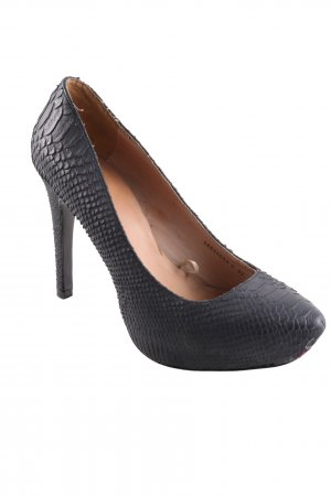 Mango Touch Plateau-Pumps schwarz Animalmuster Casual-Look