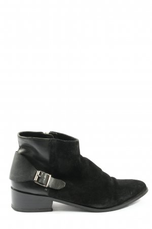 Mango Touch Zipper Booties black casual look