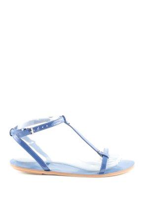 Mango Touch Riemchen-Sandalen blau Casual-Look