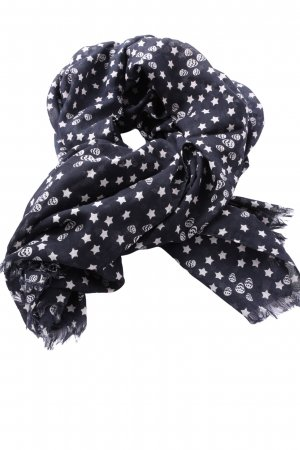 Mango Traditional Scarf black-white allover print casual look