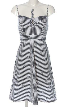 Mango Trägerkleid weiß-schwarz Allover-Druck Casual-Look