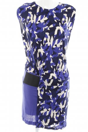 Mango Trägerkleid blau-dunkelblau grafisches Muster Casual-Look