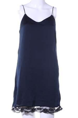 Mango Trägerkleid blau-schwarz Casual-Look