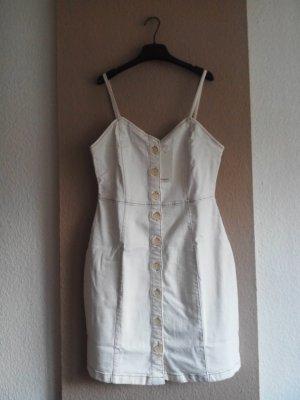 Mango Trägerkleid in wollweiß, Jeans Optik, Größe M, neu