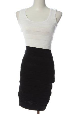 Mango Trägerkleid weiß-schwarz Streifenmuster Casual-Look