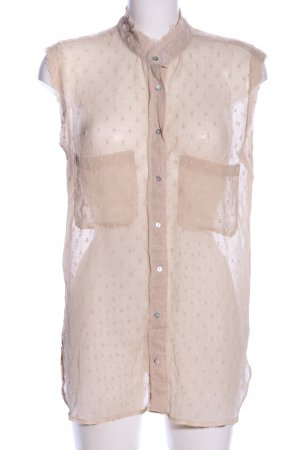Mango Transparenz-Bluse pink Punktemuster Casual-Look