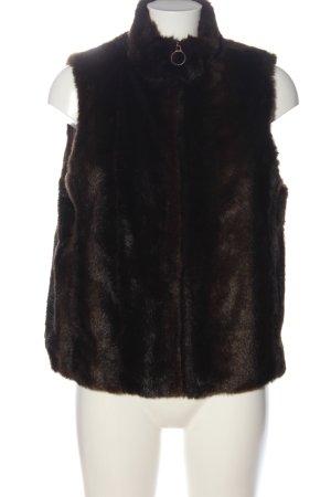 mango tree Fur vest brown casual look