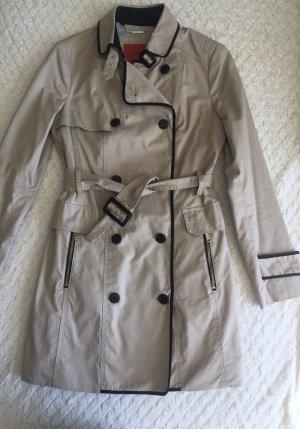 Mango Long Jacket beige-black