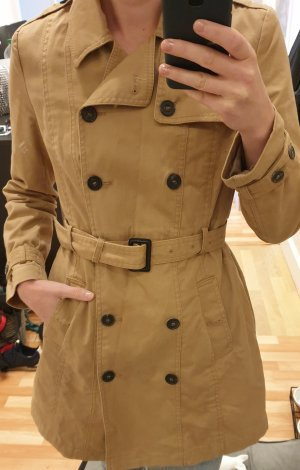 Mango Trench beige-color cammello