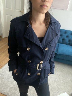 Mango Trenchcoat navy blue mit goldenen Details