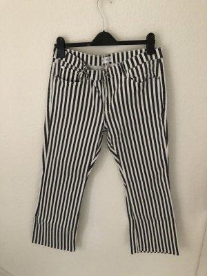 Mango Jeans a 3/4 nero-bianco