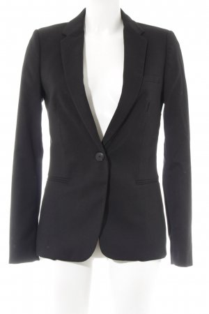 Mango Tweedblazer schwarz Business-Look