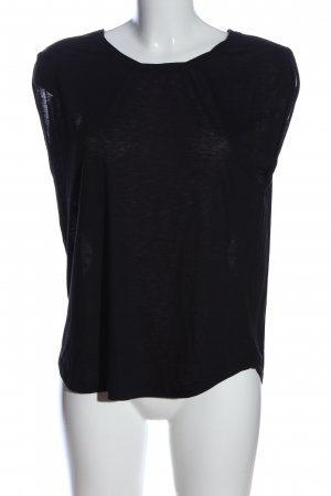 Mango U-Boot-Shirt schwarz Casual-Look
