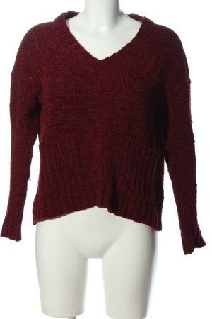 Mango V-Ausschnitt-Pullover rot Casual-Look