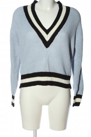 Mango V-Ausschnitt-Pullover Streifenmuster Casual-Look