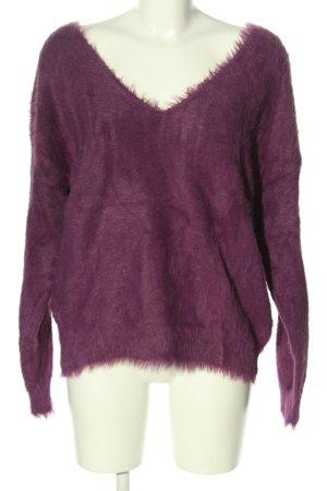 Mango V-Ausschnitt-Pullover pink Casual-Look