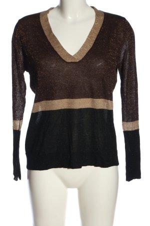 Mango V-Ausschnitt-Pullover mehrfarbig Casual-Look