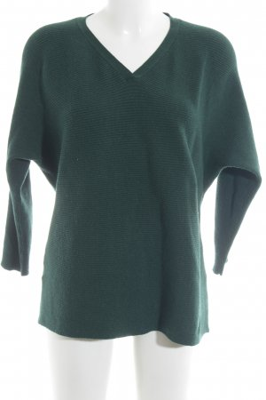 Mango V-Ausschnitt-Pullover waldgrün Casual-Look