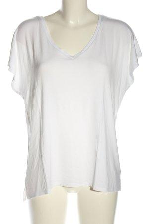 Mango V-Ausschnitt-Shirt weiß Casual-Look